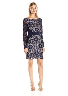 Jessica Simpson Women's Tropical Bonded Lace Dress