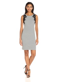 Jessica Simpson Women's Twill Texture Stripe Knit Dress