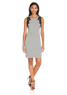 Jessica Simpson Women's Twill Texture Stripe Knit Dress