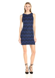 Jessica Simpson Women's Two Tone Bonded Lace Dress
