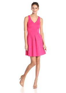 Jessica Simpson Women's V-Neck Fit and Flare Dress