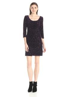 Jessica Simpson Women's Velvet Burnout Shift Dress