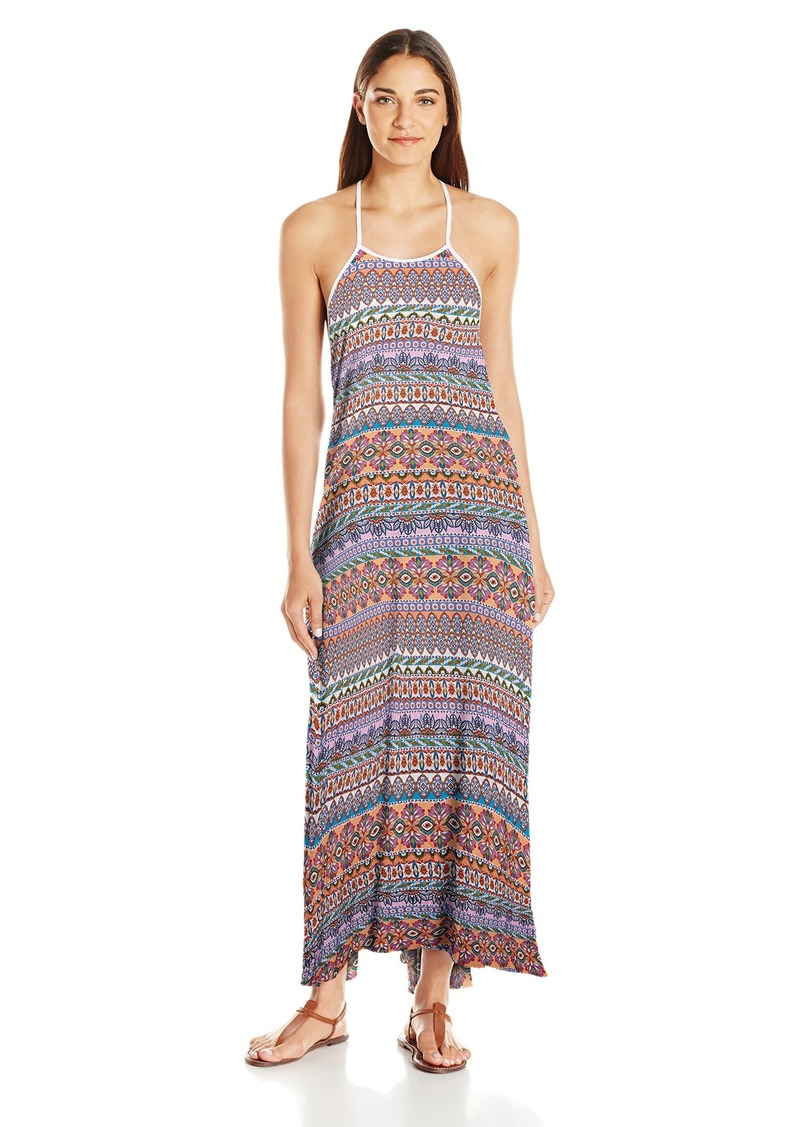 Jessica Simpson Women's Versailles Rayon Strap Back Cover-up Dress  L