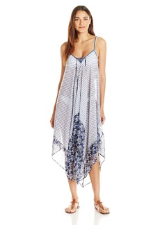 Jessica Simpson Women's Vine About It Poly Chiffon Cover-up Dress  L