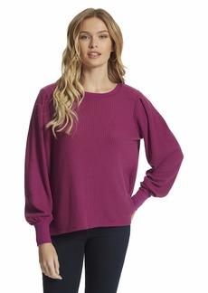 Jessica Simpson Women's Plus Size Wilder Pleat Sleeve Sweater