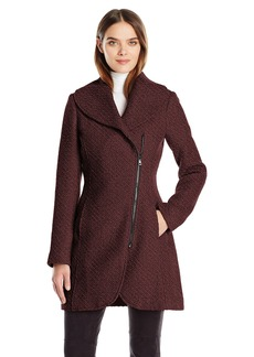 Jessica Simpson Women's Wool Zip up Coat  L