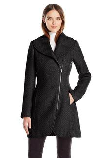 Jessica Simpson Women's Wool Zip Up Coat  M