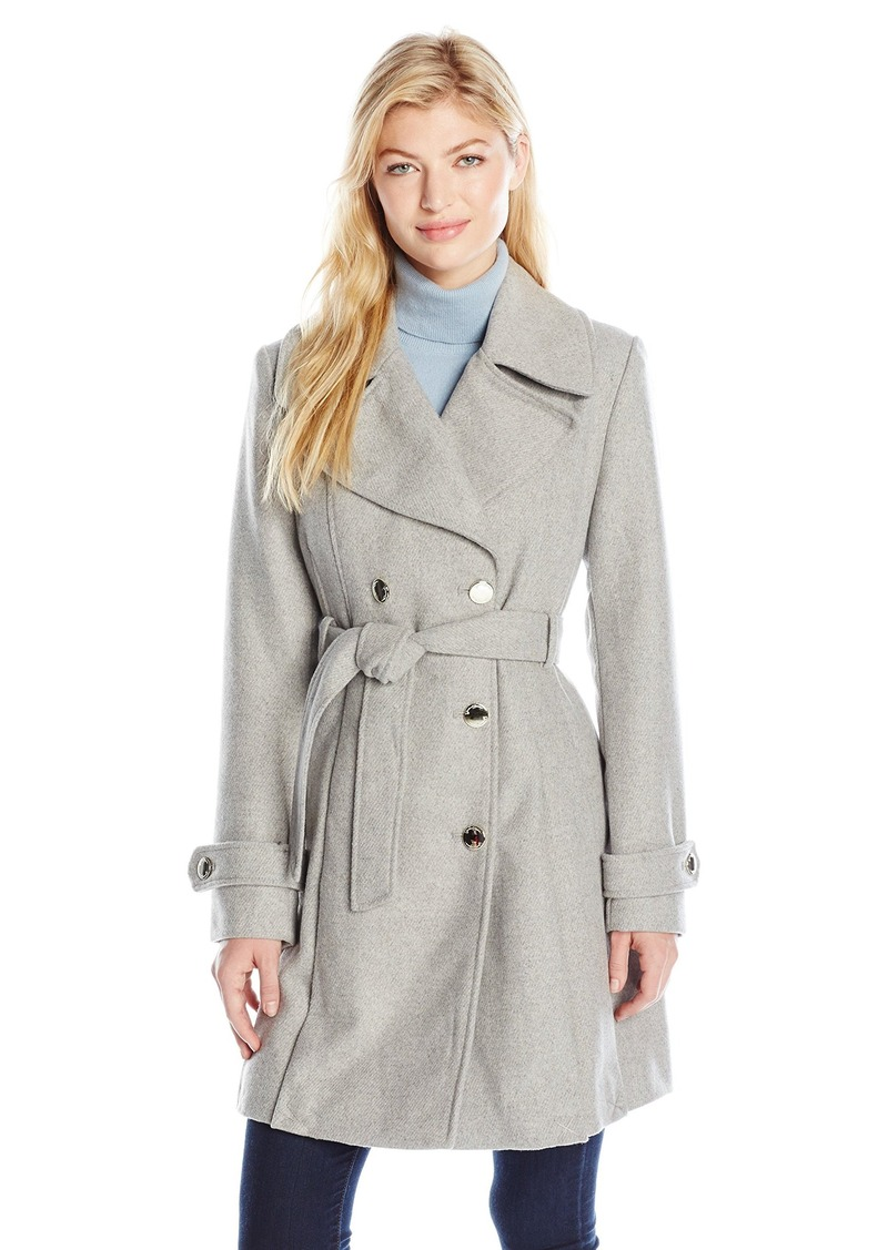 Jessica Simpson Women's Wrap Double Breasted Peacoat  L