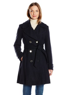 Jessica Simpson Women's Wrap Double Breasted Peacoat  M