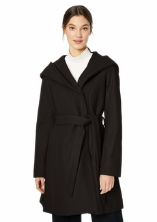 Jessica Simpson Women's Wrap Wool Coat Black S