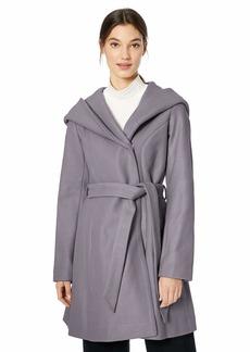 Jessica Simpson Women's Wrap Wool Coat Lavender L
