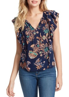 Jessica Simpson Zuri Double Ruffle Peasant Top