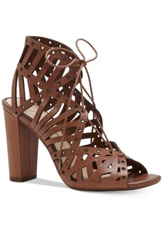 Jessica Simspon Emagine Block-Heel Lace-Up Dress Sandals Women's Shoes