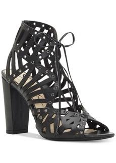 Jessica Simspon Emagine Block-Heel Lace-Up Dress Sandals Women's Shoes