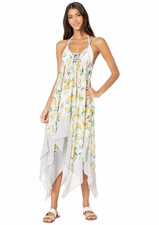 Jessica Simpson Nice Lemons Lace Front Cover-Up