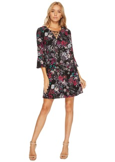 Jessica Simpson Printed Lace-Up Shift Dress