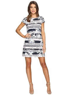 Jessica Simpson Printed Texture Knit T-Shirt Dress