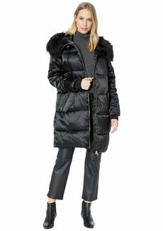 Jessica Simpson Puffer w/ Faux Fur Hood