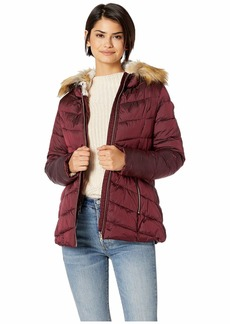 Jessica Simpson Quilted Jacket w/ Faux Fur Hood
