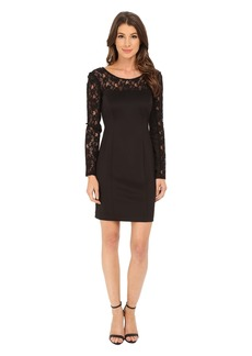 Jessica Simpson Scuba Dress with Lace Long Sleeves