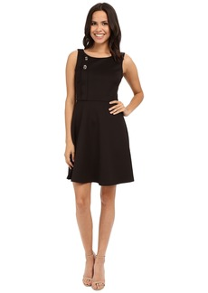 Jessica Simpson Scuba Fit and Flare with Turn Key Detail