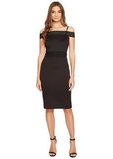 Jessica Simpson Scuba Off the Shoulder Midi Dress