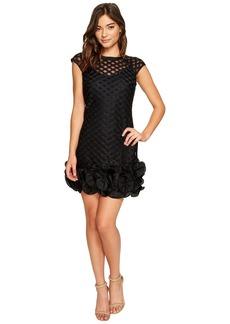 S/S Lace Dress w/ Ruffle Hem