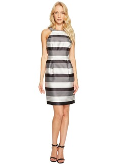Striped Halter Sateen Dress