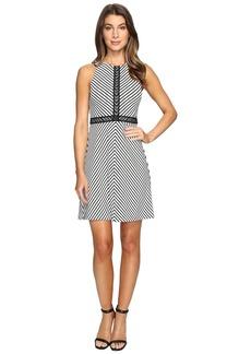 Jessica Simpson Striped Twill Knit Dress