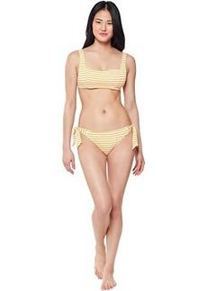 Jessica Simpson Sunshine Stripe Thick Stripe Retro Bra Top