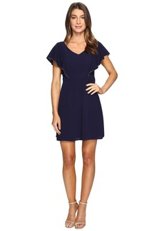 Jessica Simpson V-Neck Flutter Sleeved Dress