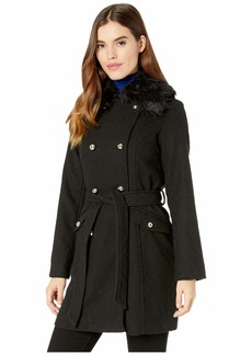 Jessica Simpson Wool Coat w/ Faux Fur