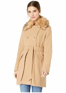 Jessica Simpson Wool Coat w/ Faux Fur