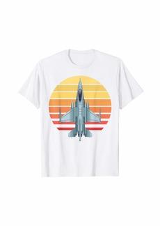 Jet Fighter Retro Jet Plane Pilot T-Shirt