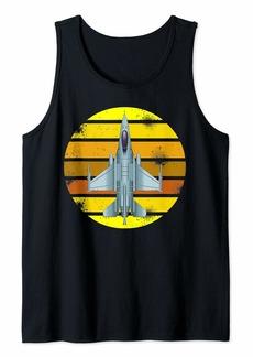Jet Fighter Retro Jet Plane Pilot Tank Top