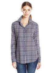 JET John Eshaya Women's Button Back Plaid Shirt Multi Colored Medium/Large