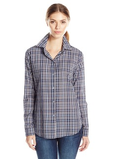 JET John Eshaya Women's Button Back Plaid Shirt  Medium/Large