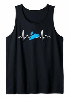 Jet Ski Heartbeat Athletic Beach Summer Sports Tank Top