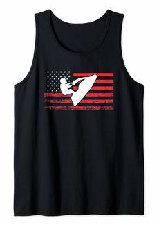 Jet Ski T-Shirt American Flag Shirt Funny Jet Skiing Gifts Tank Top