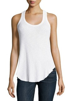 Jethro Ribbed Scoop-Neck Cotton Tank Top