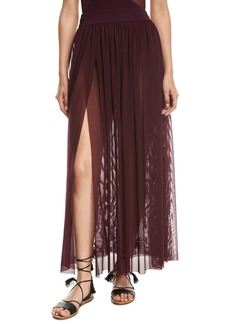 JETS by Jessika Allen Aspire Layered Mesh Maxi Coverup Skirt