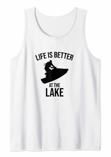Life Is Better At The Lake Funny Jet Ski Rider Tank Top