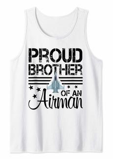 Proud Brother of An Airman Jet Plane Pilot Tank Top