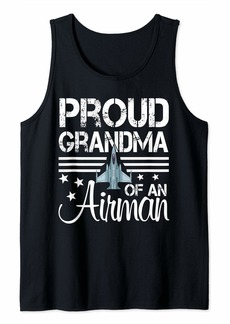 Proud Grandma of An Airman Jet Plane Pilot Tank Top