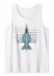 US Jet Fighter Jet Plane Pilot Tank Top