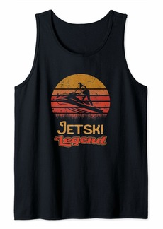 Vintage Legend Jetski Water Sports Sunset Silhouette Gift Tank Top