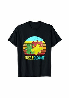 Jigsaw Puzzle Lover Puzzleologist For Men Women Kids T-Shirt