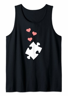 Jigsaw puzzle piece hearts Tank Top