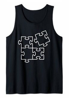 Jigsaw puzzle pieces Tank Top
