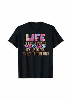 Motivational Jigsaw Puzzle Design T-Shirt